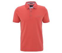 Poloshirt, Baumwoll-Piqué, Brusttasche, Rot