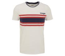 T-Shirt, Streifen-Print, Baumwolle