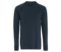 Langarmshirt, Slim Fit, Baumwolle, Raglanärmel, Blau