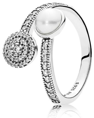 Ring Luminous glow Silber Zirkonia Kristallperle  191044CZ