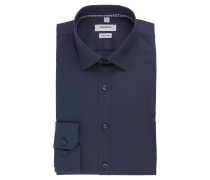 Businesshemd, Super Slim, Kent-Kragen, uni, Baumwolle, Blau