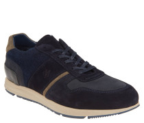 Sneaker, Materialmix, Fleece-Details