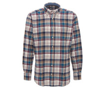 Hemd, Karo-Muster, Button-Down-Kragen, Brusttasche