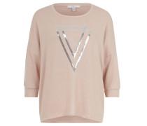 Sweatshirt, Pailletten-Dekor, Ärmelbündchen, Rosa