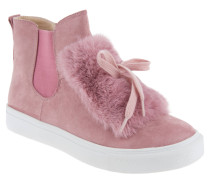 Sneaker, hoher Schaft, Chelsea-Stil, Leder-Optik, Pink