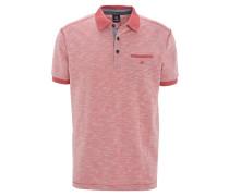 Poloshirt, meliert, Brusttasche, Rot