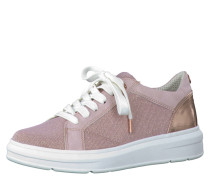 Sneaker low, uni, Metallic-Optik, Schnürung, Rosa