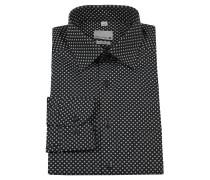 Businesshemd, modern fit, geometrisches Muster, Brusttasche