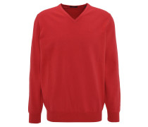 "Pullover ""Vico"", Stretch, Baumwolle, V-Ausschnitt, Rot"