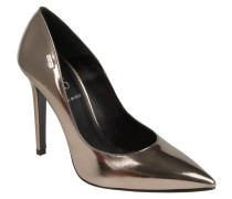 "Pumps ""Decolleté Arancio"", Metallic-Look, Silber"