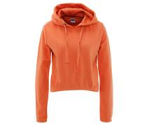 Sweatshirt, Kapuze, verlängerter Rücken, Baumwoll-Mix