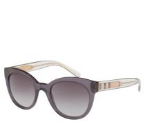 Sonnenbrille, Panto-Design, leicht transparent