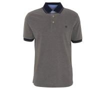 Poloshirt, Logo-Stickerei, einfarbig, Grau