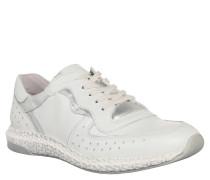 Sneaker Low, Lochmuster, Weiß