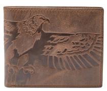 """Brieftasche """"Eagle"""", Leder, Braun"""