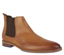 Chelsea Boots, Leder, elastischer Einsatz, Zugschlaufe, Braun