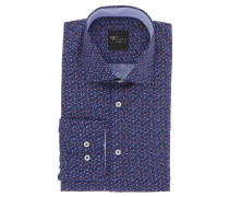 "Businesshemd ""Black Label"", Slim Fit, mehrfarbig, Quadrate, Blau"