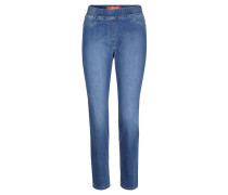 "Jeans ""Leggy"", strechig, Kurzlänge, Super Slim Fit, Blau"