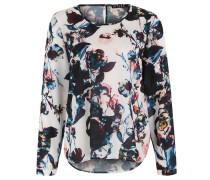 Bluse, florales Design, Rücken-Schlitz, Mehrfarbig