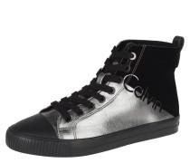 Sneaker, Schnürung, Materialmix, Metallic