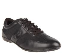 Sneaker, Leder, Stoff, Logo-Prägung, Schwarz
