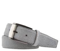 Ledergürtel, strukturiert, zweifarbige Schließe