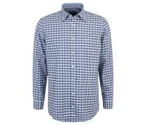 Freizeithemd, Comfort Fit, Baumwolle, kariert, Blau