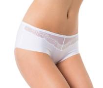 "Pants ""Paradies"", transparente Partie, nahtlos, Weiß"