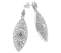 Ohrringe  mit weißen Zirkonia-Steine ct 1,32