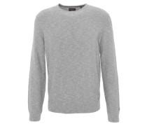 Pullover, meliert, Rippbündchen, Grau