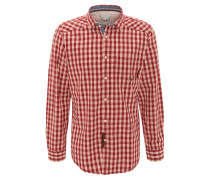 Trachtenhemd, Baumwolle, Rot