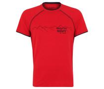 T-Shirt, Lagenlook, Print, UV-Schützend, für Herren, Rot