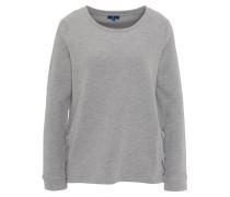 Sweatshirt, Rundhals, seitliche Schnürungen, weich