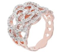 Ring, WSBZ00810, Zirkonia, rosévergoldet