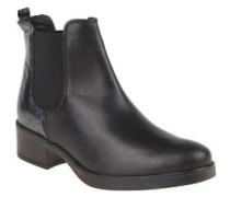 Chelsea-Boots, Glattleder, Reptilien-Optik