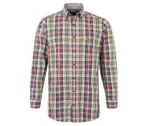 Hemd, Button-Down, Karo-Muster, Comfort Fit, Rot