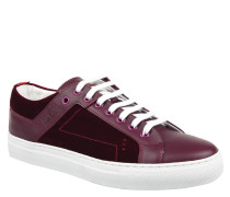 "Sneaker ""Corynna"", Velours-Leder-Mix, dicke Sohle, Pink"