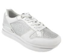 Sneaker, glitzernd, Plateausohle