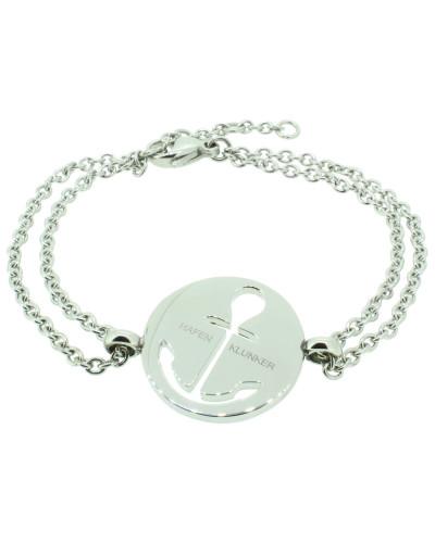 Anker Armband 108034 EdelstahlAnker ausgestanzt rund