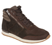 Sneaker high, Nubuk, Leder, Schnürung