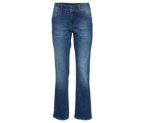 Jeans, Straight Fit, Five-Pocket-Stil
