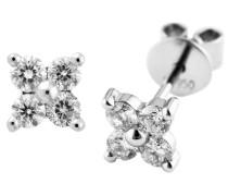 Brillant Ohrstecker mit Diamant, Platin 950