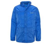 Regenjacke, wasserfest, atmungsaktiv, abnehmbare Kapuze, für Herren, Blau