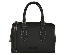 Handtasche, Leder-Optik, Schwarz