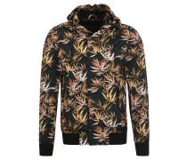 Jacke, florales Muster, Nylon, Mehrfarbig