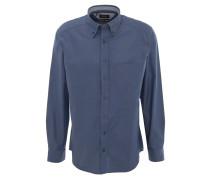 Freizeithemd, Comfort Fit, Piqué-Optik, Brusttasche, Blau