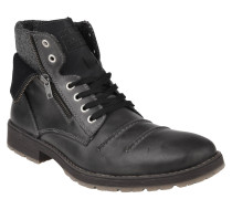 Boots, Leder, umgeschlagener Schaft, Reißverschluss