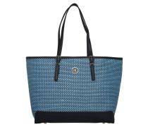 Shopper, Bastgewebe, Emblem, Innenfächer, Blau