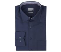 Businesshemd, Modern Fit, Kent-Kragen, Brusttasche, Blau