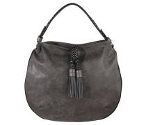 """Handtasche """"Lucy"""", Ziernaht, Flecht-Details, Grau"""